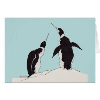 pair of penguins card