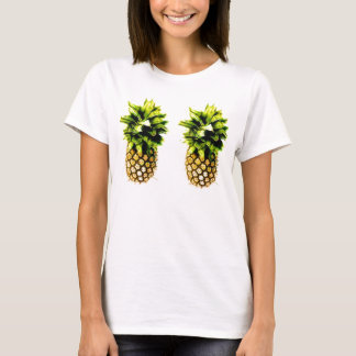 Pair of Perky Pineapples Light Colored T-shirt