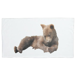Pair of Pillowcases, King Size grizzly cub Pillowcase