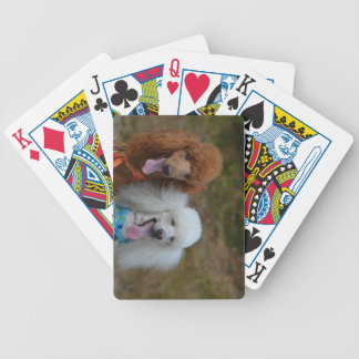 Pair of Poodles Bicycle Playing Cards