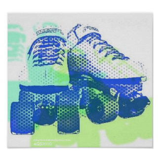 Pair of Skates Pop Art PosterPrint Poster