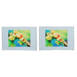 PAIR OF STANDARD PILLOW CASES - BUDS