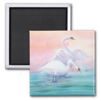 PAIR of SWAN by SHARON SHARPE Magnet
