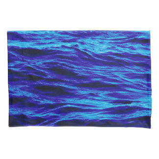 Pair of Water design Standard Size Pillowcases