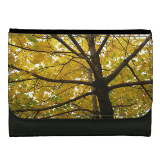 Pair of Yellow Maple Trees Autumn Nature Women's Wallet