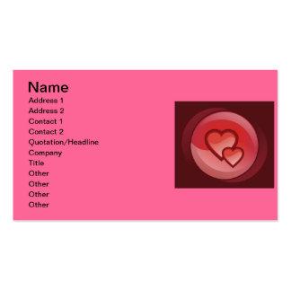 Paires de carte de visite de coeurs