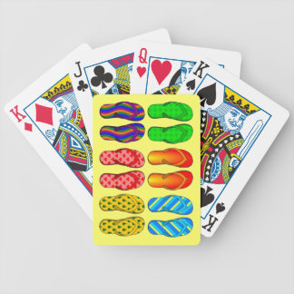 Pairs of Summer Flip Flops Beach Theme Bicycle Playing Cards
