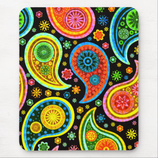 Paisley 2.0-Worm Tones Mouse Pad