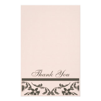 Paisley and Floral Thank You Cards Personalized Stationery