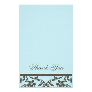 Paisley and Floral Thank You Cards Stationery Paper