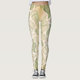 Paisley Beige Design Pattern Leggings
