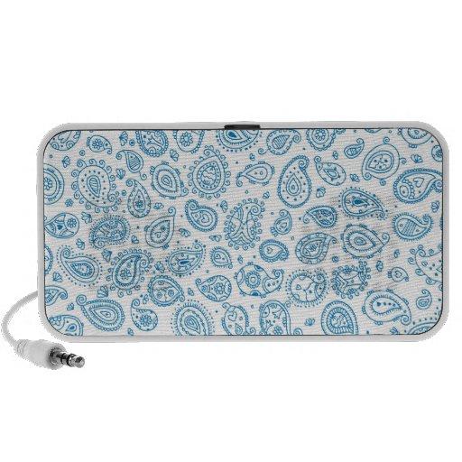Paisley - Bleu de Chine Haut-parleurs iPhone