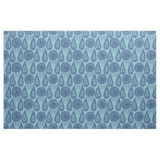 paisley block blue fabric