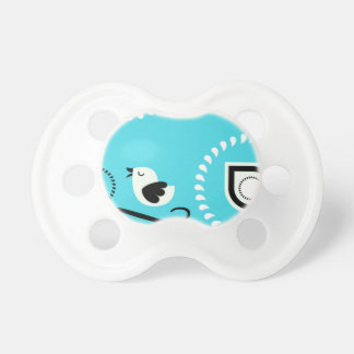 Paisley Blue Baby Paci With Bird Design Pacifier