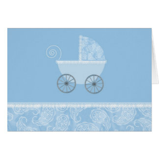 Paisley Blue Carriage Card