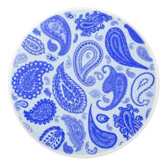 Paisley Blue Door Knobs by Julie Everhart