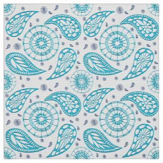 Paisley blue seamless pattern. fabric