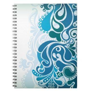 Paisley Blue Spiral Notebook