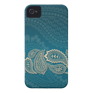 Paisley Border iPhone 4 Case-Mate Cases