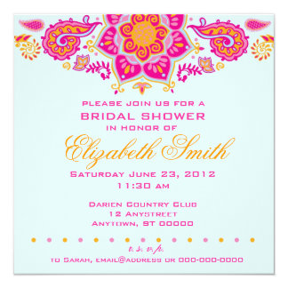 Paisley Bridal Shower Invitation
