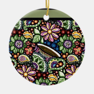 Paisley Cafe Ceramic Ornament