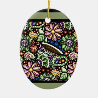 Paisley Cafe Ceramic Ornament