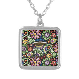 Paisley Cafe Silver Plated Necklace