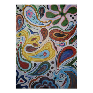 Paisley Canvas Poster