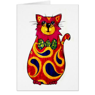 Paisley Cat - Card /Notelet