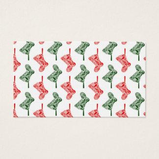 Paisley Christmas Stockings Business Card