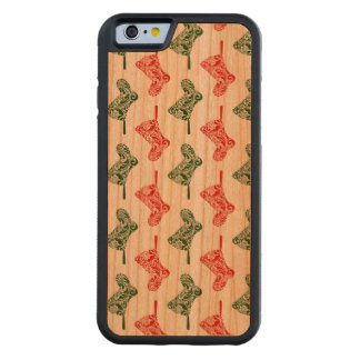 Paisley Christmas Stockings Carved Cherry iPhone 6 Bumper Case