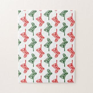 Paisley Christmas Stockings Jigsaw Puzzle