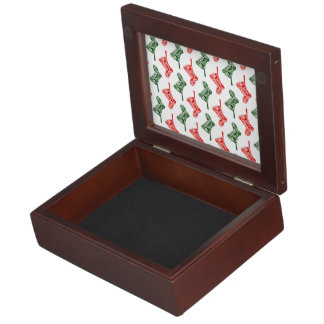 Paisley Christmas Stockings Keepsake Box