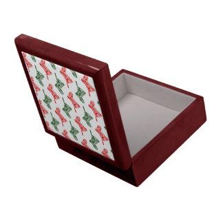 Paisley Christmas Stockings Keepsake Box