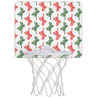 Paisley Christmas Stockings Mini Basketball Hoop