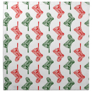 Paisley Christmas Stockings Napkin