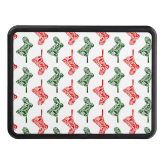 Paisley Christmas Stockings Trailer Hitch Cover