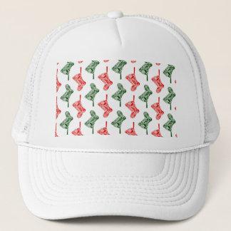 Paisley Christmas Stockings Trucker Hat