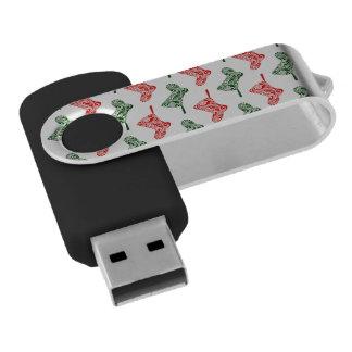 Paisley Christmas Stockings USB Flash Drive