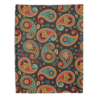 Paisley  colorful elegant duvet cover