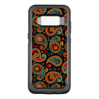 Paisley  colorful elegant OtterBox commuter samsung galaxy s8 case