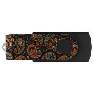 Paisley  colorful elegant USB flash drive