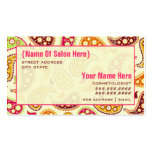 Paisley Cosmetologist Salon Appointment Business Card