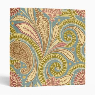 Paisley design vinyl binder