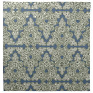 Paisley Diamond Green Retro Modern Napkins