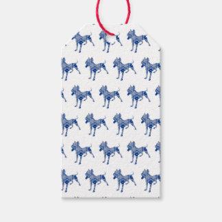 Paisley Dog No. 1 | Blue | Gift Tag