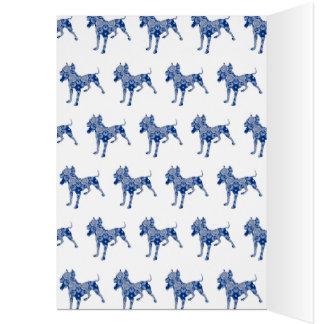 Paisley Dog No. 1 | Blue Greeting Card