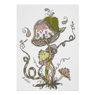 "Paisley Doodles ""Mushroom"" Poster"