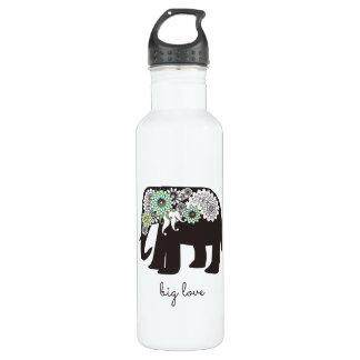 Paisley Elephant Elegant Cute Animal Love Custom 710 Ml Water Bottle