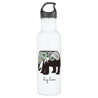 Paisley Elephant Love Girly Cute Personalized 710 Ml Water Bottle